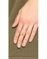Elizabeth and James Metallic Edo & Kuril Ring Set - Gold