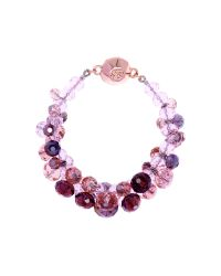 Ted Baker | Pink Chelly Bead Cluster Bracelet | Lyst