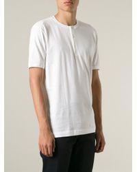 Dolce & Gabbana - White Henley Shirt for Men - Lyst