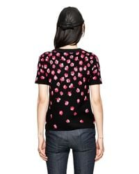 Kate Spade | Black Falling Florals Sweater | Lyst