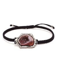 Kimberly Mcdonald | Red Geode, Black Rhodium And Diamond Bracelet | Lyst