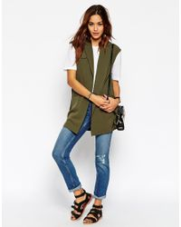 ASOS - Green Sleeveless Trench Jacket - Lyst