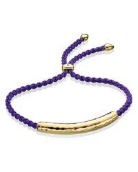 Monica Vinader - Blue Linear Friendship Bracelet - Lyst