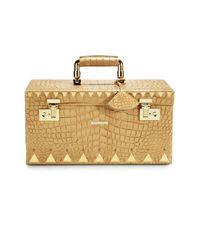 Eddie Borgo - Brown Crocodile-embossed Leather Jewelry Box/goldtone - Lyst