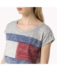 Tommy Hilfiger | Gray Jersey Blend T-shirt | Lyst