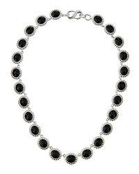 Slane | Black Nuage S-hook Station Necklace W/ Onyx | Lyst