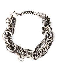 Ann Demeulemeester - Metallic Multi-chain Bracelet - Lyst