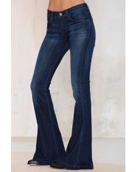 Nasty Gal - Blue A Gold E Madison Ultra Flare Jean - Lyst
