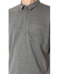 Public School Gray Short Sleeve Polo Tunic for men