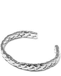 Jennifer Fisher Metallic Small Silver-plated Braid Patterned Thin Cuff
