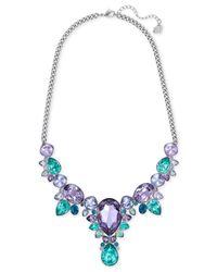 Swarovski - Metallic Silver-tone Large Crystal Statement Necklace - Lyst