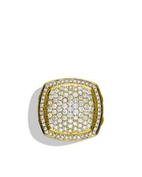 David Yurman - Metallic Albion Ring With Diamonds In Gold - Lyst