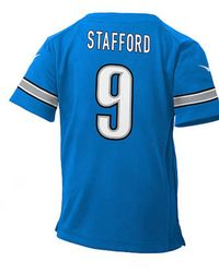Lyst - Nike Kids  Matthew Stafford Detroit Lions Game Jersey in Blue ... fb37e5380