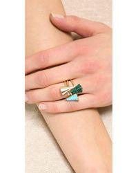 Sarah Magid - Multicolor Mini Reconsituted Cone Rings - Lyst