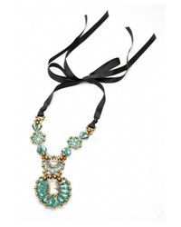 Nakamol | Multicolor Bernadette Crystal Necklace-green/copper | Lyst