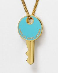 "Marc By Marc Jacobs - Blue Lock-In Key Pendant Necklace, 27"" - Lyst"