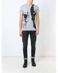 Philipp Plein | Gray 'bipolar' T-shirt for Men | Lyst