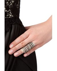 Pamela Love - Metallic Sterling Silver Double Cage Ring - Lyst