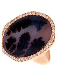 Monique Péan - Pink Diamond, Agate & Rose-Gold Ring - Lyst