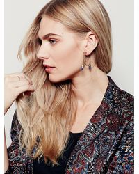 Free People Blue Mckenna Chain Hoop Earring
