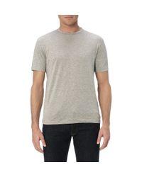 Sunspel Gray Riviera Crew Neck T-Shirt for men