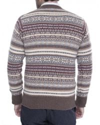 Jules B - Brown Cashmere Fair Isle Sweater for Men - Lyst