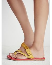 Free People | Red Maui Slip On Sandal | Lyst
