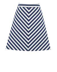 Oasis White Stripe A-line Skirt
