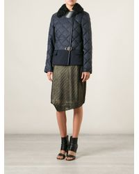 Ferragamo - Blue Quilted Jacket - Lyst