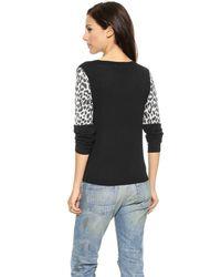 Top Secret - Multicolor Ashton Sweater - Black/Snow Leopard - Lyst