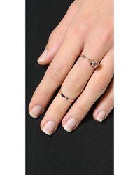 Joomi Lim Metallic Sphere And Midi Ring Set - Rose Gold