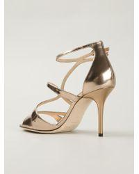 Jimmy Choo Metallic 'fenzy' Sandals