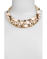 kate spade new york | Metallic Kate Spade 'neapolitan' Bib Necklace - Blush Multi | Lyst