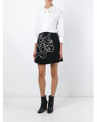 Vivetta - White 'hands' Embroidered Collar Shirt - Lyst