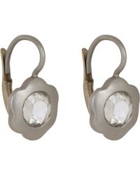 Linda Lee Johnson - Metallic Diamond & Platinum La Chorus Memoire Earrings - Lyst