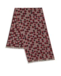 Saks Fifth Avenue | Red Dot Print Merino Wool Scarf for Men | Lyst