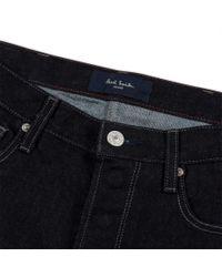 Paul Smith - Blue Men's Dark Indigo Green-cast Stretch-denim Jeans for Men - Lyst