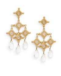 Stephanie Kantis - Metallic White Quartz Briolette Venetian Chandelier Earrings - Lyst