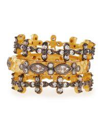 Freida Rothman - Metallic Set Of Three Cz Stackable Infinity Rings - Lyst