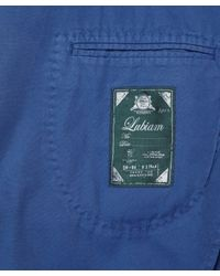 Lubiam - Blue Cotton 2-button Blazer for Men - Lyst