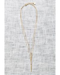 Forever 21 | Metallic Katie Dean Double Dipping Necklace | Lyst