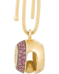 Aurelie Bidermann - Metallic 18-karat Gold Sapphire Bell Charm - Lyst