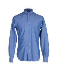 Aspesi | Blue Shirt for Men | Lyst