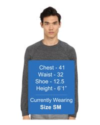 Vince - Gray Marled Cashmere Dégradé Crew Neck Sweater for Men - Lyst