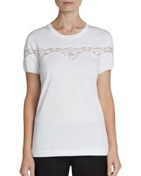 Dolce & Gabbana - White Laceinlay Tee - Lyst