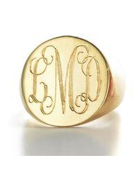 Sarah Chloe | Metallic Lana Round Signet Ring | Lyst