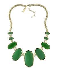 Kendra Scott - Green Ginger Bib Necklace - Lyst