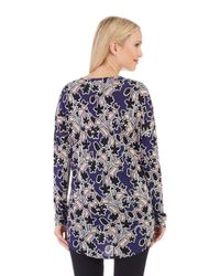 Lord & Taylor | Blue Floral Top | Lyst