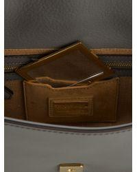 Fendi Gray Baguette Clutch Bag
