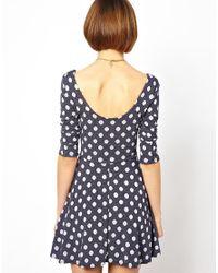 Wal-G | Blue Spot Knit Dress | Lyst